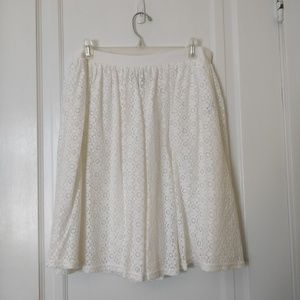 Chaps Skirts - White Lace Chaps Skirt